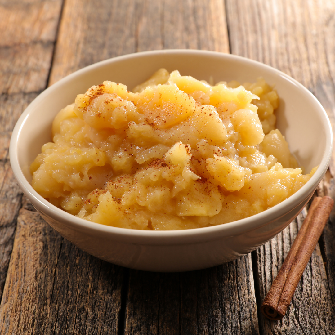 Soft food, like applesauce, is good to eat after oral surgery.